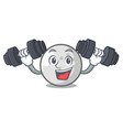 fitness golf ball character cartoon vector image