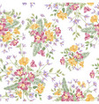 floral ornamental white seamless pattern flower vector image vector image