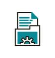 folder file data web development icon line and vector image