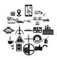 fueling icons set simple style vector image vector image