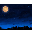 full moon night skt background halloween vector image