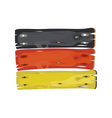 German flag painted on wooden planks isolated vector image vector image