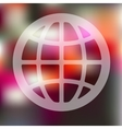 globe icon on blurred background vector image vector image