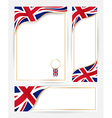 Great Britain flag banners set vector image vector image