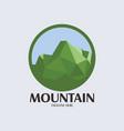green abstract geometric triangle mountain logo vector image vector image