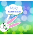 Greeting Card with White Easter Rabbit vector image vector image