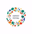 harvest festival banner with autumn vegetables vector image vector image