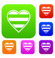 heart lgbt set collection vector image vector image