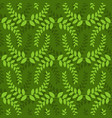 leaves seamless pattern green leaf ornament vector image