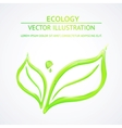 Liquid green leaves vector image vector image