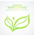 Liquid green leaves vector image
