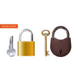 locks and keys vector image vector image