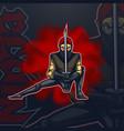 logo talisman ninja in combat position esport team vector image