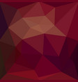 low polygon triangle pattern abstract red color vector image