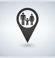 map pointer with a family vector image vector image