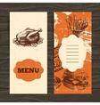 Menu for restaurant cafe bar coffeehouse vector image vector image