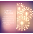 Merry Christmas fireworks vector image vector image