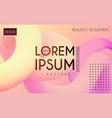 modern 3d blend abstract backgrourn fluin color vector image vector image