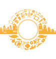 Modern City Life Silhouette vector image vector image
