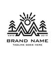 mountain logo initials m vector image vector image