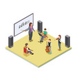 music class school orchestra lesson vector image vector image