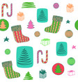 new year colorful seamless pattern with christmas vector image vector image