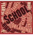 Oklahoma Schools Better Than Ok text background vector image vector image