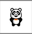 panda balogo cute happy vector image