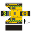 Paper model of an ambulance vector image