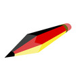 pencil with the flag of germany vector image vector image