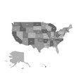 political map of united states od america usa vector image