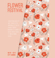 poster flower festival at city garden vector image