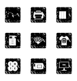 Printing icons set grunge style vector image vector image