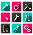 Repair Technology Icons - Web Buttons with Cogs vector image vector image