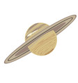saturn doodle vector image