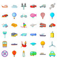 sea transport icons set cartoon style vector image vector image