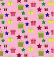 seamless flat pattern of happy new year and vector image