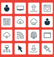 set of 16 internet icons includes blog page send vector image vector image