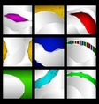 Set of abstract metallic backgrounds vector image vector image