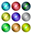 Set of Different Spheres vector image