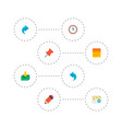 set of project icons flat style symbols with pin vector image