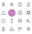 set yoga elements can be used as logo or icon vector image vector image