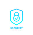 shield icon security concept vector image
