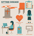 Sitting disease vector image