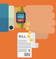smart watch wireless bill payment concept vector image
