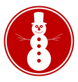 Snowman button vector image