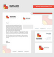 socks business letterhead envelope and visiting vector image vector image