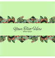 Stylish vintage floral pattern against a uniform vector image vector image
