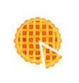 tasty pie isolated icon vector image