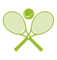 tennis sport emblem icon vector image vector image